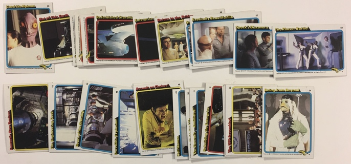 Vintage 1979 Topps Star Trek The Motion Picture Non-Sports Trading Cards Lot of 27