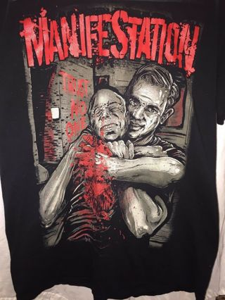 HardCore Manifestation TRUST NO ONE Coast to Coast US TOUR 2012 M T shirt