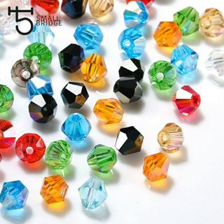 4 6mm Austrian Bicone Crystal Beads for Jewelry Making Bracelets Diy Accessories Supplies Mix Color