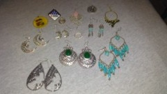 ANOTHER 6 PAIR OF EARRINGS & ETC LOT * PLEASE READ*