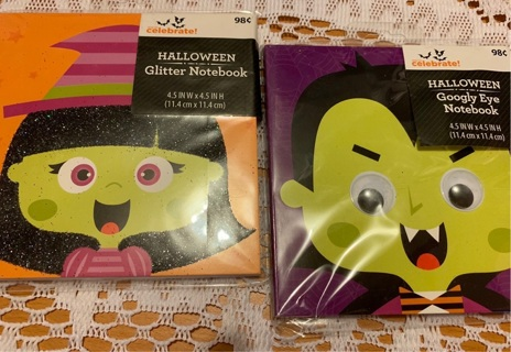 2 Halloween Notebooks