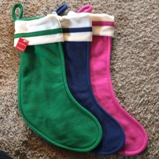 Set of three Stockings