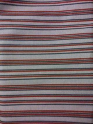 Half Yard of Fabric: Red, Blue, Off White