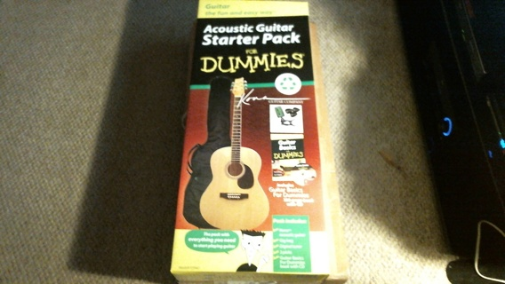 "New in Sealed Unopened Box: ""Acoustic Guitar for Dummies Kona Acoustic Guitar & Accessories"""
