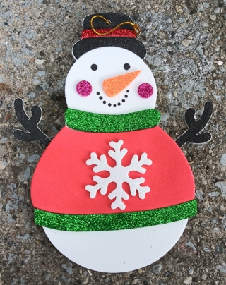 CHRISTMAS HANDMADE SNOWMAN ORNAMENT LOT 2