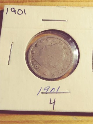 1901 Liberty V Nickel with Nice Full Date! 425