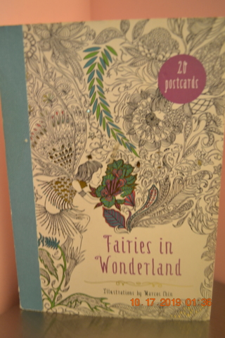 "****20 POSTCARDS BOOK ""FAIRIES IN WONDERLAND"" ILLUSTRATIONS BY MARCOS CHIN***FREE SHIPPING"