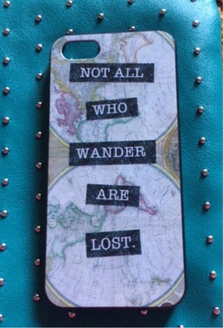 iPhone 5s case not all who wander are lost