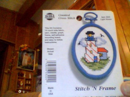 Cross stitch pattern or finished framed picture