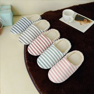 Men Women House Indoor Slippers Home Winter Warm Cotton Shoes Sandals Anti-Slip