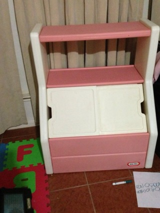 Free Little Tykes Pink Toy Box W Shelves