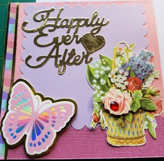 """BN """"HAPPY EVER AFTER"""" HAND CRAFTED CARD!"""