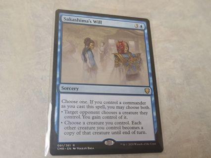 Magic the gathering mtg Sakashimas will rare card Commander Legends