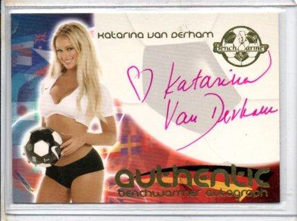 2006 Benchwarmer Katarina Van Derham World Cup Autograph