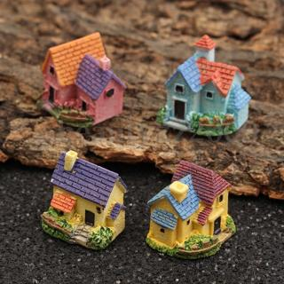 4 Fairy Garden Miniature Dollhouse Flower House Terrarium Landscape Bonsai Decor
