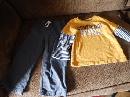 Boy's Size 3T Carters Pants and Shirt