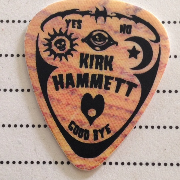 Free 1 Kirk Hammett Metallica Ouija Board Guitar Pick Other Music