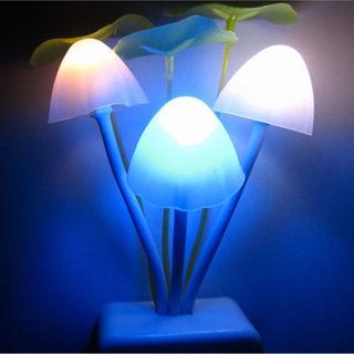 Lovely Mushroom Home Decor Color Changing Sensor LED Nightlight Lamp Light Gift