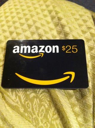 Amazon gift card $25.00