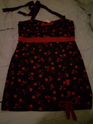 Hot Topic cherry halter dress xxl