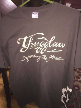 Cool THUGGLAW Defending the Streets Gangster Don't Follow Me Unisex XL t shirt