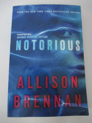 Notorious paperback book by Allison Brennan