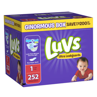 NEW Luvs Ultra Leakguards Newborn Diapers Size 1 (252 Count) FREE SHIPPING