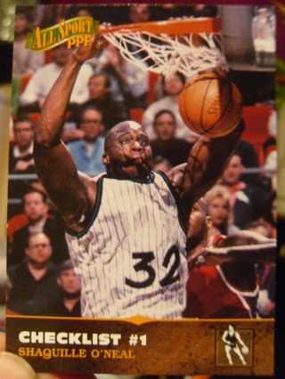 Shaq Checklist Basketball Card