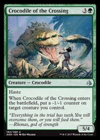 Crocodile of the Crossing NM Amonkhet Green Uncommon MTG
