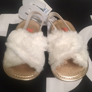 Beautiful Fur Slides + I love Daddy Shoes