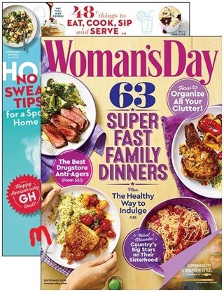 COMBO GOOD HOUSEKEEPING / WOMAN'S DAY TWO Year Subscription To Each Magazine