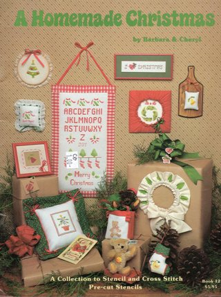 Vintage Craft Book: A Homemade Christmas Stencil & Cross Stitch