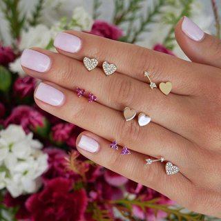 12 Pcs/set Women Fashion Temperament Gold Heart Crystal Arrow Earrings Set Sexy Jewelry Gift