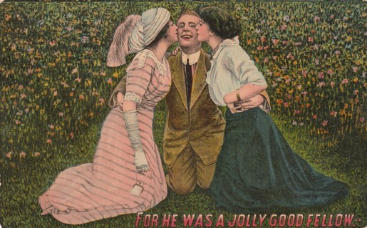 Vintage Used Postcard: Pre Linen: For He Was A Jolly Good Fellow