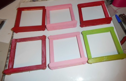 Handmade Picture Frame's - qty 6