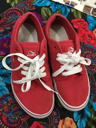 MEN'S SHOES ADIO SKATE SHOES RED/WHITE SIZE 9 SHOES