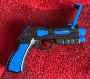 Black Fin AR Blaster Gaming Gun for Cell Phone
