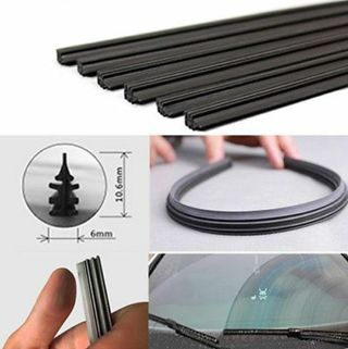 "2 X Frameless Wiper Blade Auto Refill Car Windshield 26"" 6mm Universal Rubber"