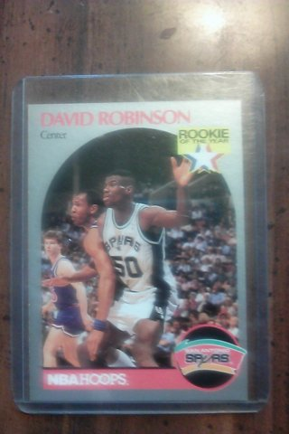 Free 1990 David Robinson Rookie Of The Year Nba Hoops Card Sports