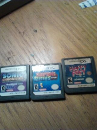 3 NINTENDO DS GAMES*used*
