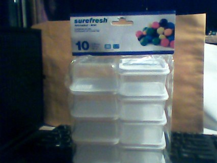 10 mini containers and lids sealed