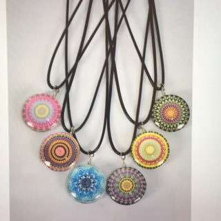 6 Pack Mandela Double Sided Glass Dome Necklace Lot