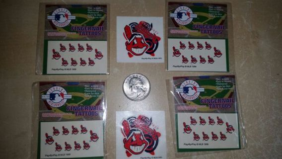 Free: Cleveland Indians FINGERNAIL and TEMPORARY TATTOOS - Baseball ...