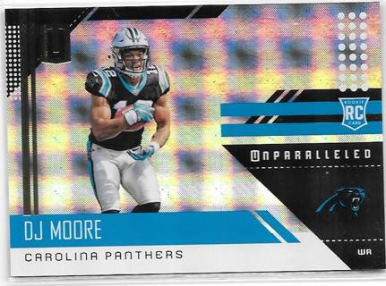 2018 Panini Unparalleled Whirl - D.J. Moore SER #d 005/100