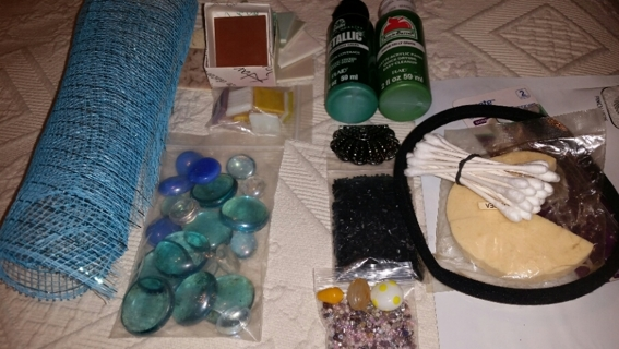 MY GROWING CRAFT BAG! (ummm....) New & Repurposed Stuff! * Paint * Ceramic Tiles * Glass & More!