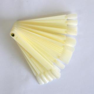 50tips/set Clear and Natural Fan-shaped False Fake Nail Art Tips Sticks Polish Gel Salon Display C