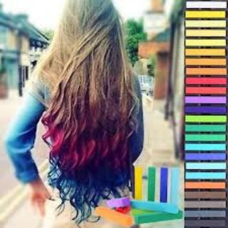 Free: FREE SHIP NEW 12 pcs Non-toxic Temporary DIY Hair Color Chalk ...