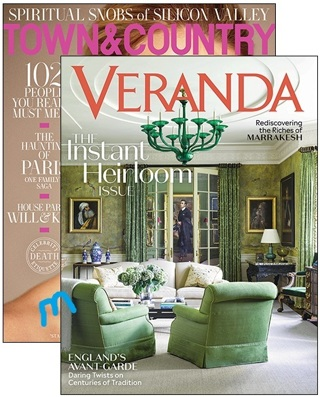 COMBO TOWN & COUNTRY / VERANDA TWO Year Subscription To Each Magazine