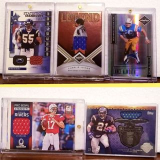 21 day Auction BLITZ> CHARGERS FOOTBALL CARDS = autographS , patches, #'d, refractors..etc READ>