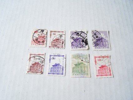 China Postage Stamps Used/Cancelled Set of 8